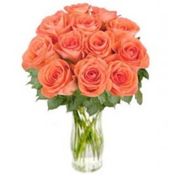"Bunch of Orange Roses ""Bliss"" (without vase)"
