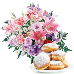 Bouquet with donuts