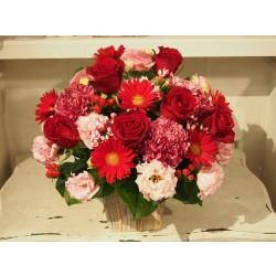 Valentine's Day Red and Pink Arrangement