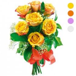 Bukiet 7 róż - wybierz kolor