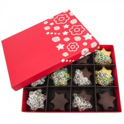 Pineapple stars in chocolate