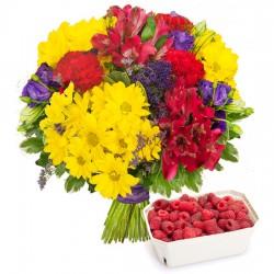 Pasodoble bouquet with raspberries
