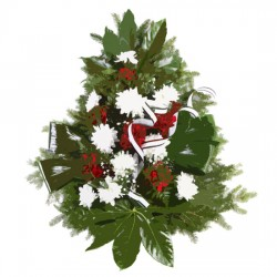 Wiązanka / Bukiet kondolencyjny ze wstążką