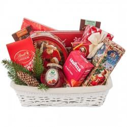 Bright red basket