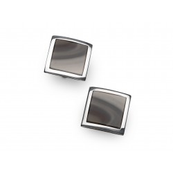 Cufflinks with striped flint
