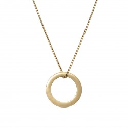 Gold-plated necklace with a circle pendant