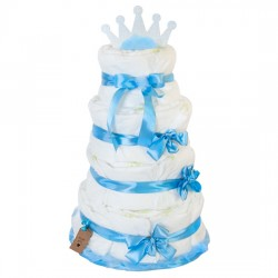 Diaper cake for the boy
