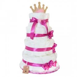 Diaper cake for the girl