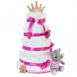 Diaper cake with rose elephant