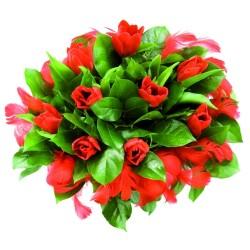 Bukiet tulipanów z piórkami