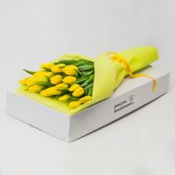 21 żółtych tulipanów