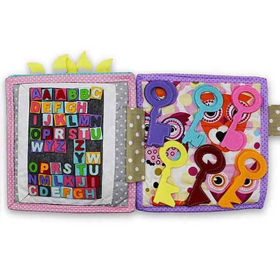Książeczka sensoryczna - Urodzinowy tort