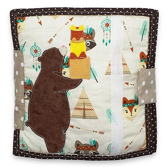 Sensory book - Teddy bear with presents