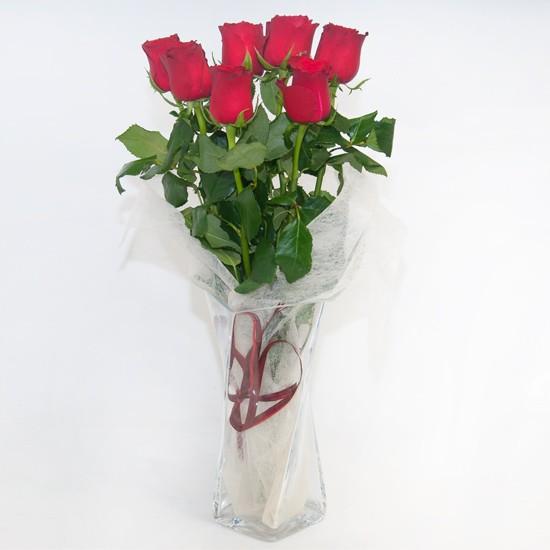 7 czerwonych róż