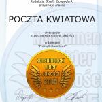 Konsumencki Lider Jakości 2015 dla Poczta Kwiatowa®
