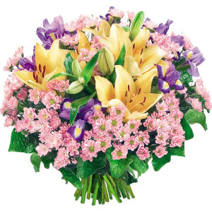 lilie w bukiecie