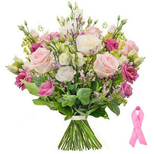 Bukiety z różową wstążką - Europejski Dzień Walki z Rakiem Piersi