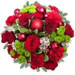 Kwiatowe dekoracje ze świątecznym akcentem