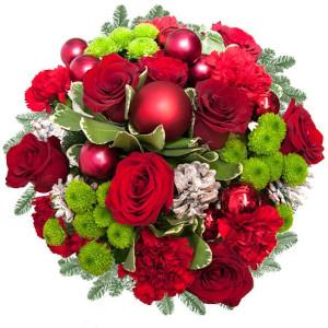 kwiaty ze świątecznym akcentem