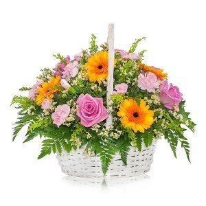 Kwiaty w koszu - jakie wybrać?