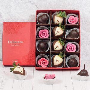 Słodki, elegancki prezent - owoce w czekoladzie